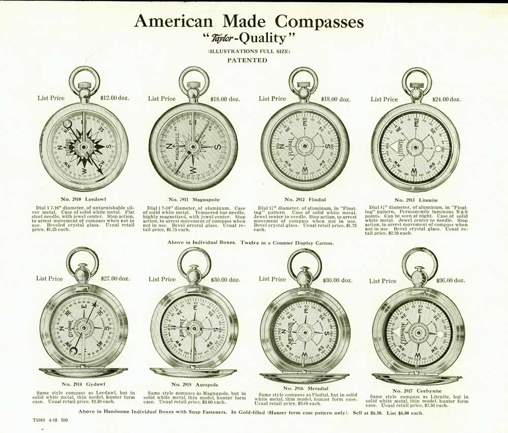 What are some types of compasses?